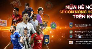 Lịch thi đấu bóng đá International Champions Cup 2017 trên K+