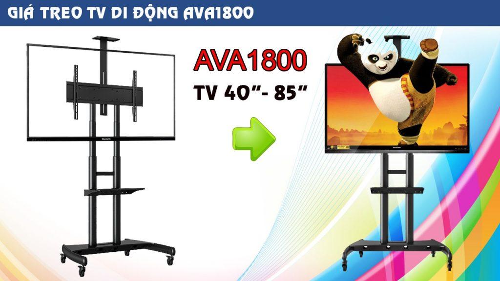 """Khung treo Tivi di động AVA1500 nhập khẩu chính hãng NB mẫu mới chất lượng cao TV từ 40"""" đến 65"""""""
