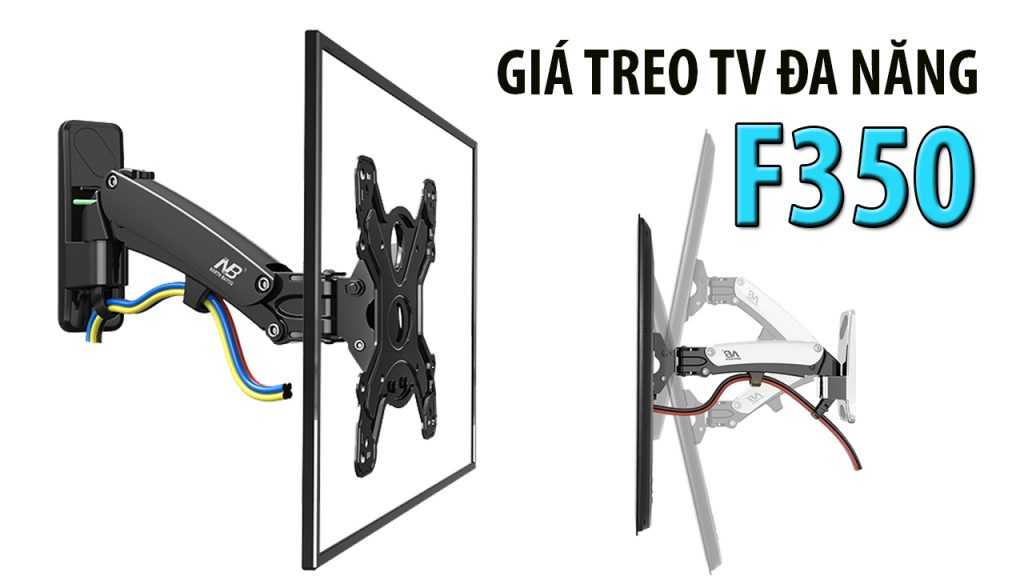 Khung treo tv Đa Năng nâng TV Lên Xuống Bằng ống thủy Lực, chỉ có màu đen